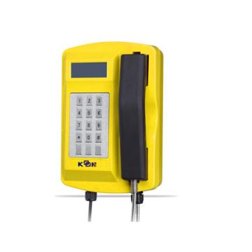 Wasserdichtes robustes Druckgegossenes Telefon mit Tastatur und LCD