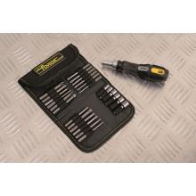 26PCS Multifunctional Hand Tools CRV Steel Ratchet Screwdriver & Bits Set