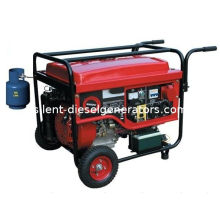 12 V, 6kw Air-cooled Gas Petrol Duel Fuel Generator With Avr Alternator