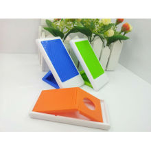 Soporte de escritorio plegable plástico antideslizante del teléfono / tenedor divertido del teléfono celular / tenedor plástico del teléfono