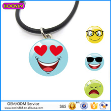 Custom Fashion Jewelry Zinc Alloy Colorful Enamel Necklace