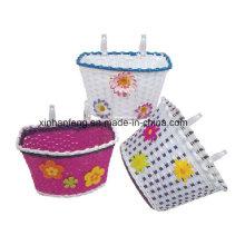 Cute Plastic Bicycle Basket for Kids Bike (HBK139)
