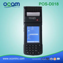 3.5 Inch Win CE 6.0 OS Portable POS Terminal With Printer