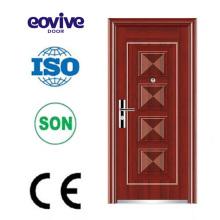 Porta plana matal porta exterior porta meia meia porta exterior