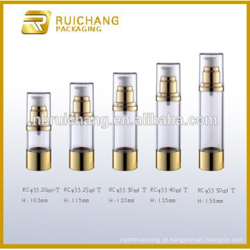 Frasco airless de 20ml / 25ml / 30ml / 40ml / 50ml, frasco airless cosmético de alumínio, frasco arless cosmético