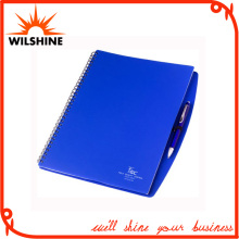 A4 PP Cover Spiral Notebook with Pen for Wholesale (PPN221)