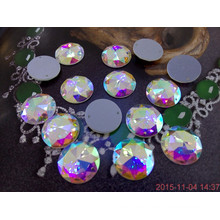 Round Sew on Rhinestones with Two Holes for Clothing Decoration