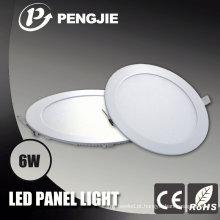 3 anos de garantia 6W LED luz de teto com CE (redondo)