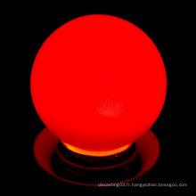 Vente en gros de boule à bulle en plastique couleur led ampoule