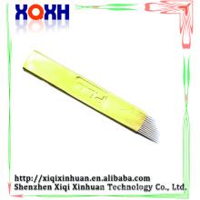Aguja de calidad microblading de alta calidad, aguja de hoja de microblading para la pluma manual del tatuaje