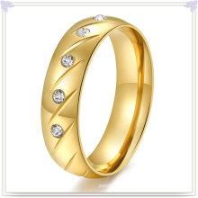 Модные аксессуары из нержавеющей стали ювелирные изделия Кристалл кольцо (SR147)