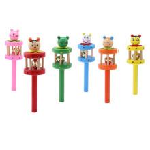 FQ marque fabricant de bruit en peluche belle bambin main jouet musical en bois bébé hochet