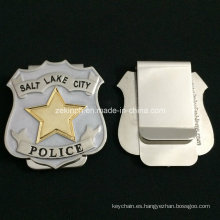 Custom Stainless Steel Police Officer Money Clip for Souvenir