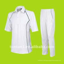 Alta qualidade desportiva profissional design cricket jersey e calças