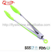 High Temperature Resistance Cooking Silicone BBQ Scissor Tongs