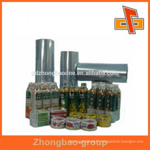 PVC thermo shrink film for beverage bottle group packaging