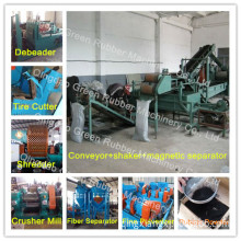 Full Automatic Waste Tire Recycling Machine Line