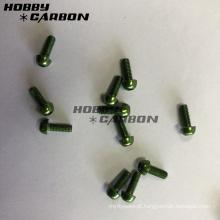 Borne verde dos parafusos do alumínio M3