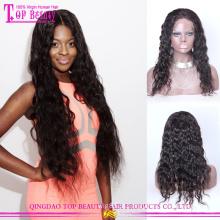 2015 novo estilo cabelo remy peruca Dedo Wave Lace Front Peruca de cabelo humano