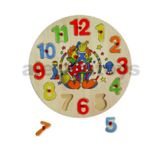 Wooden Clock Puzzle of Clown (80135 / 80136)