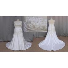 Atemberaubende Plus Size Brautkleider Perlen