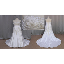De tirar o fôlego Plus Size vestidos de casamento frisado