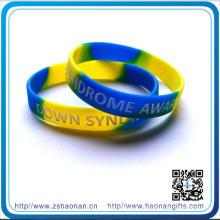 Bande de caoutchouc de bracelet de silicone imprimée par OEM de 202 * 12 * 2mm