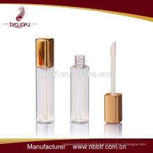 Brilho de lábio de cor de ouro por atacado fazer o seu próprio brilho labial brilho labial garrafa