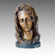 Bustes Art Figure Bronze Sculpture Maria Home Decor Statue en laiton TPE-235