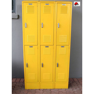 Cadeado de design moderno colorido 6 porta locker