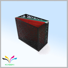 Office flower metal squire black colorful a4 size box files for saving room
