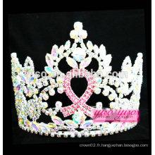 Meilleure qualité promotionnelle cadeau ruban à la mode tiara en cristal