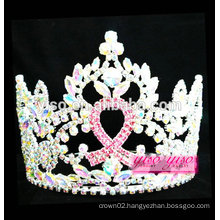 top quality promotion gift ribbon fashionable crystal tiara