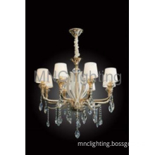 modern hot sale chandeliers with top crystal and glass for sale