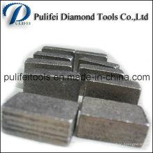 Segment de marbre de granit de coupe de diamant d'outils de pierre dure de roche
