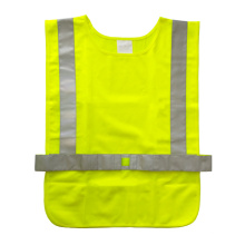 Reflective safety vest with adjustable velcro closure
