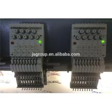 JS machine à broder à grande vitesse 1200 tr / min avec 20 têtes 4,6,9,12,15 aiguilles