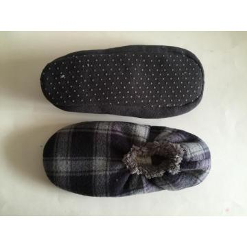 Men's Elastic Sock Slippers Check Upper Dotted Sole