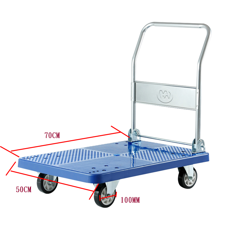 Blue Folding Platform Trolleys
