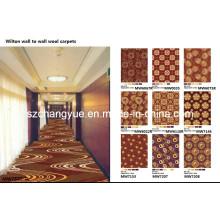 Machine Woven Wilton Wall to Wall PP Hotel Teppiche für Korridor