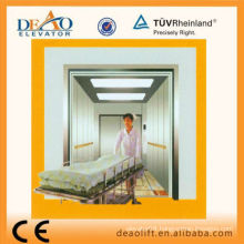 Safety Bed Elevator with Hairless Stainless Car