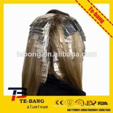 Feuille de coiffure Feuilles de coiffure estampées en forme de poitrine en papier gaufré avec tissu pour salon de coiffure, feuilles de cheveux colorées