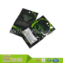 Wholesale Custom Black Printed Herbal Packaging Flat Resealable Plastic Aluminum Foil Laminated Mylar Ziplock Bags