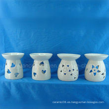 Aromaterapia quemador de incienso ahumado de aceite esencial hecho en cerámica (decoración del hogar)