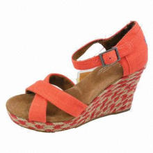 Wedge Shoes, Feminine and Charming Design, Vibrant Color, Perfectly Match Dress and Jeans in Summer