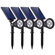 ABS Waterproof 4 LED Solar Spotlight Adjustable Wall Landscape Security Light