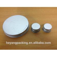 Tampa de alumínio para embalagem de cosméticos garrafa