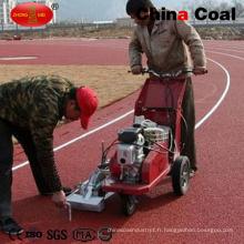 Machine de marquage de ligne de course en caoutchouc et en plastique de charbon de la Chine