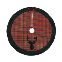 Holiday Christmas decoration plain tree skirt cover at home
