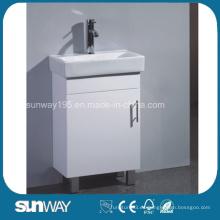 Vaina clásica del cuarto de baño del MDF del estilo europeo de la venta caliente con el lavabo